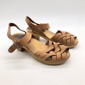 Moheda Leather Betty Classic Swedish Wood Clog